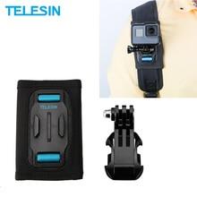 TELESIN Рюкзак ремень плечевой держатель крепление для GoPro Hero 7 6 5 4 3 для SJCAM для eken камеры аксессуары спортивные аксессуары