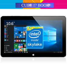 Original Cube I7 Book Windows 10 Tablet PC 10.6'' IPS 1920x1080 Intel Core M3-6Y30(Skylake) Dual Core 4GB/64GB Camera Type C(China (Mainland))
