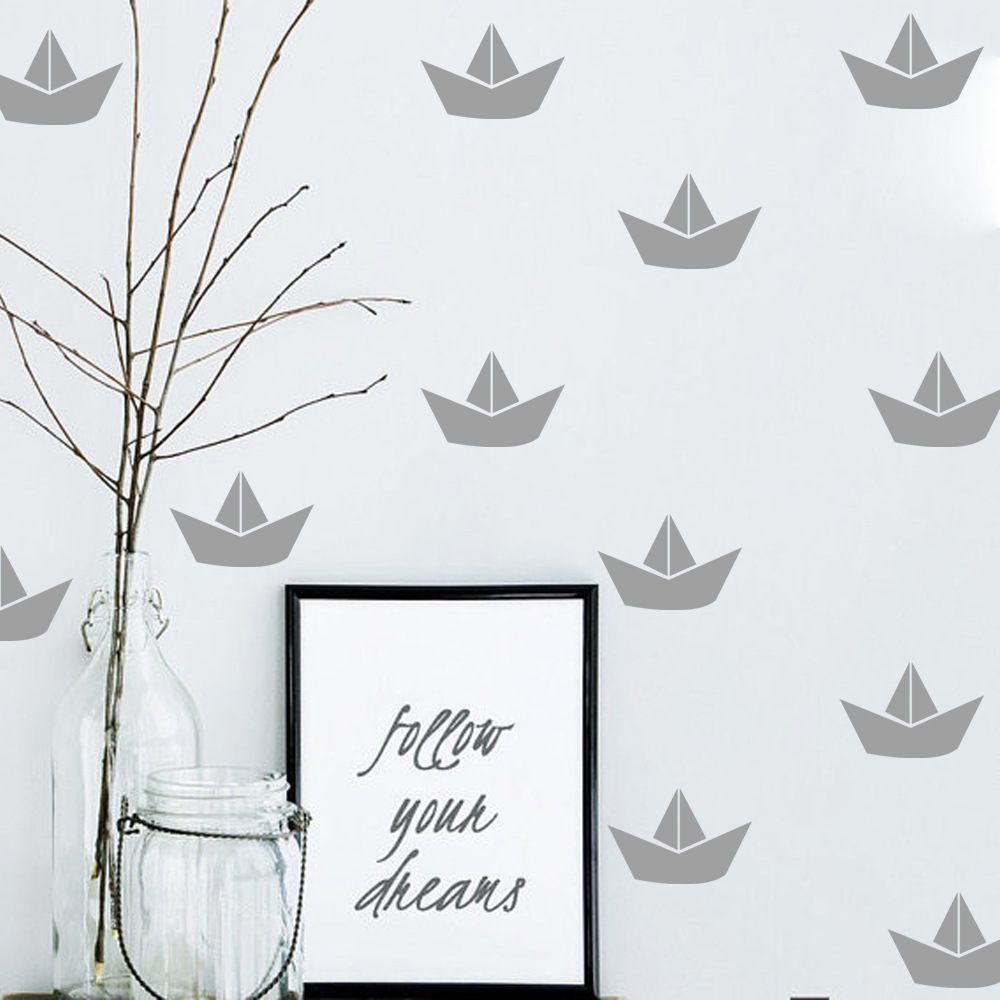Kreative DIY Nette kleines boot wandaufkleber steuern dekor ...
