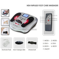 Infrared & Ion Physical Magnetism Therapy Health Protection Detox Foot Massager Machine With pulse pads and infrared belt