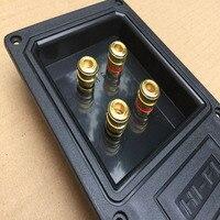 2pcs/lot  Stage speaker junction box connector 4 position binding post double connection box Connectors     -