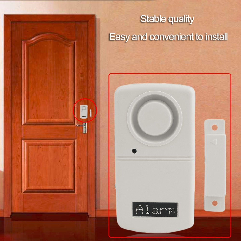 Alarm Sensor Detector More Than 120dB Alarm Voice Door Magnetic Alarm System Home Security Alarm Sensor Detector the bathroom door stopper bronze magnetic absorber wall suction hit more than five home hardware