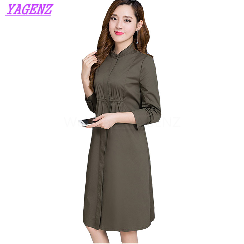 Plus size M-3XL Spring Autumn Windbreaker Coat Women Fashion Long Elegant   Trench   coat Young Women Slim Round neck Overcoat B304