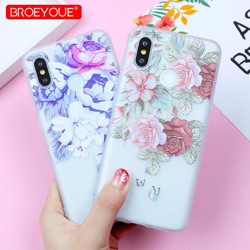 Étui pour Xiao mi rouge mi Note 7 Pro étui Note 4X 5A rouge mi 4X 4A rouge mi 6 7 Pro étui pour Xiao mi A1 A2 mi 8 9 TPU couverture de fleur en Relief
