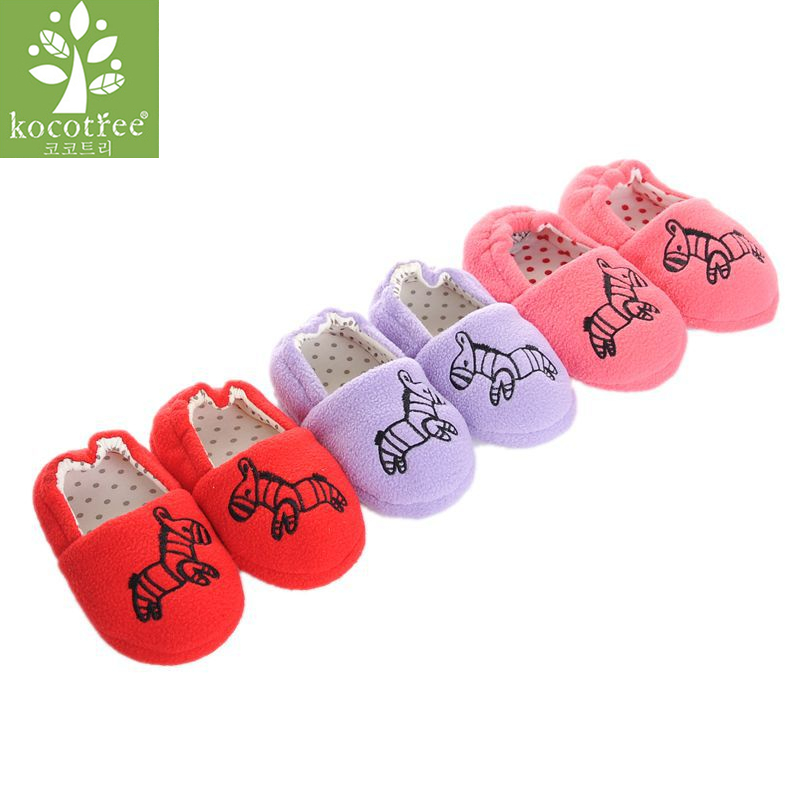 Mother & Kids Children's Shoes Well-Educated Kocotree Baby Boy Girl Winter Warm Home Shoes Newborn Soft Sole Anti-slip Slippers Cute Zebra Cotton Kid Slipper 12-16 Cm Relieving Rheumatism