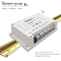 Sonoff 4CH Pro 4 Gang MHz433 Smart Wi Fi Switch 4 Channel Wireless Commutator Mounting On