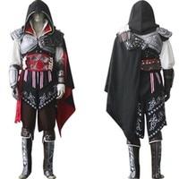 Assassin's Creed II Косплэй костюм Assassins Creed Эцио костюм дети Для мужчин комплекты одежды