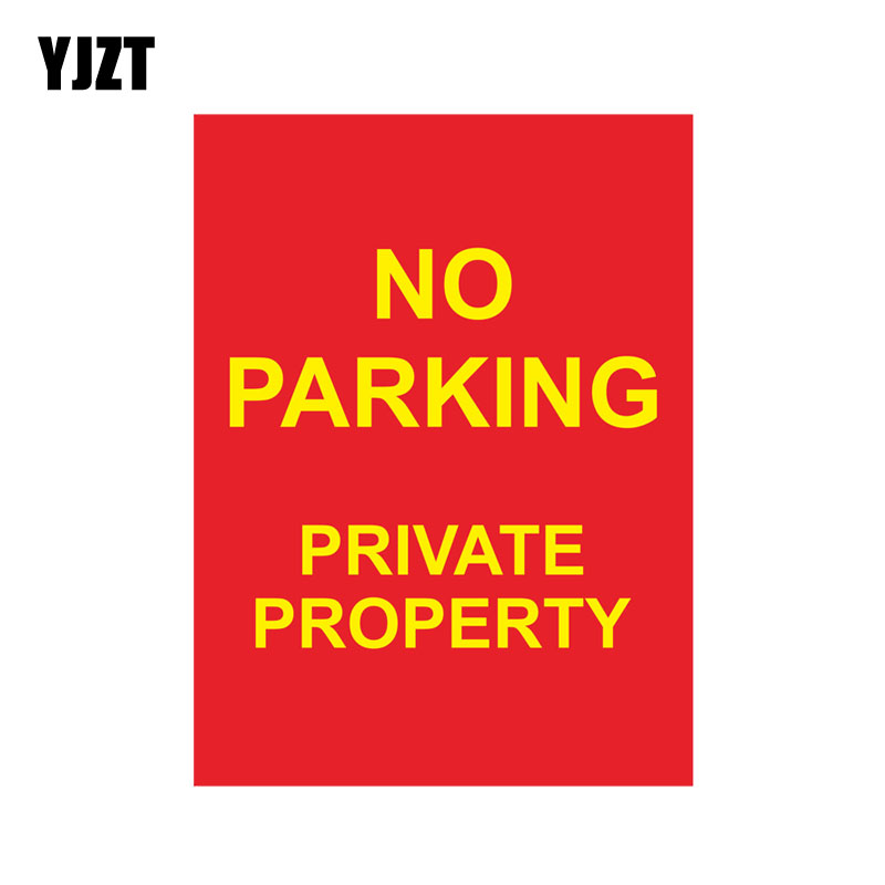 US $0 93 45% OFF|YJZT 9 2CM*12 5CM No Parking Private Property Car Sticker  Warning Funny Decal PVC 12 0838-in Car Stickers from Automobiles &