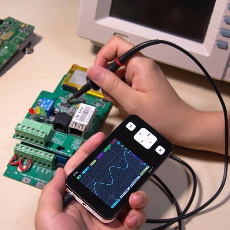 DS211 Osciloscopio Automotive Pocket Size Portable ARM Mini Digital Oscilloscope USB 2.8