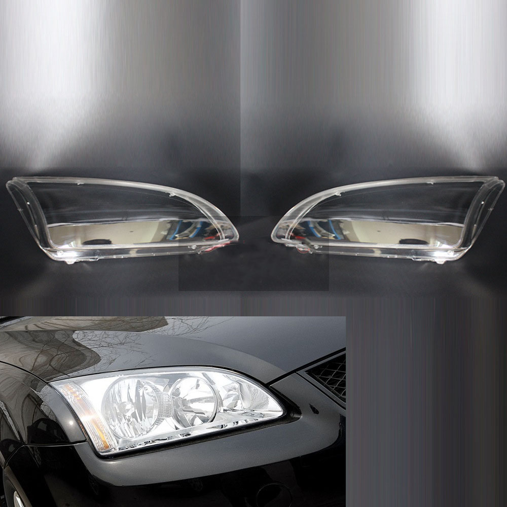For Ford Focus 2005 2006 2007 2008 Car Headlight Headlamp Clear Lens Shell Cover Driver & Passenger Side Auto ShellFor Ford Focus 2005 2006 2007 2008 Car Headlight Headlamp Clear Lens Shell Cover Driver & Passenger Side Auto Shell