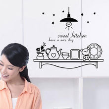 Fashion Sweet Kitchen Removable Vinyl Decal Art Letters Quote Mural Home Wall Stickers GW-5