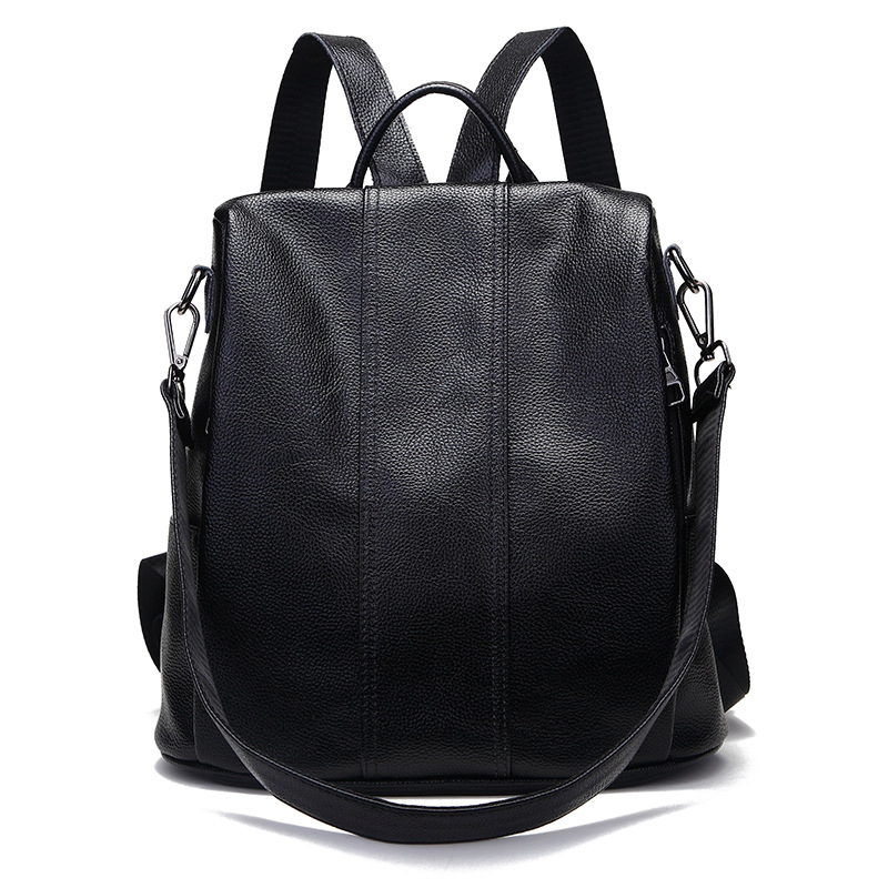 2019 100 Genuine Leather Backpack Female School Shoulder Bag Anti Theft Backpack Women Fashion School Bags