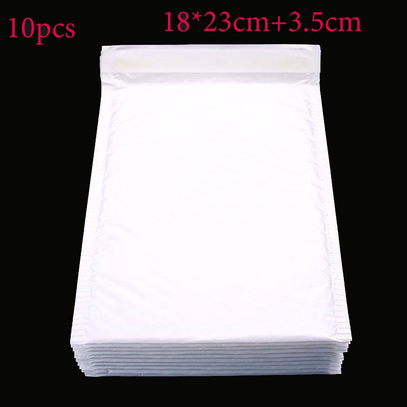 Office Stationery Paper (18 * 23cm + 3.5cm) 10 Pieces / White Envelope Paper Bubble Bag Foam Collision Postage Delivery Bag