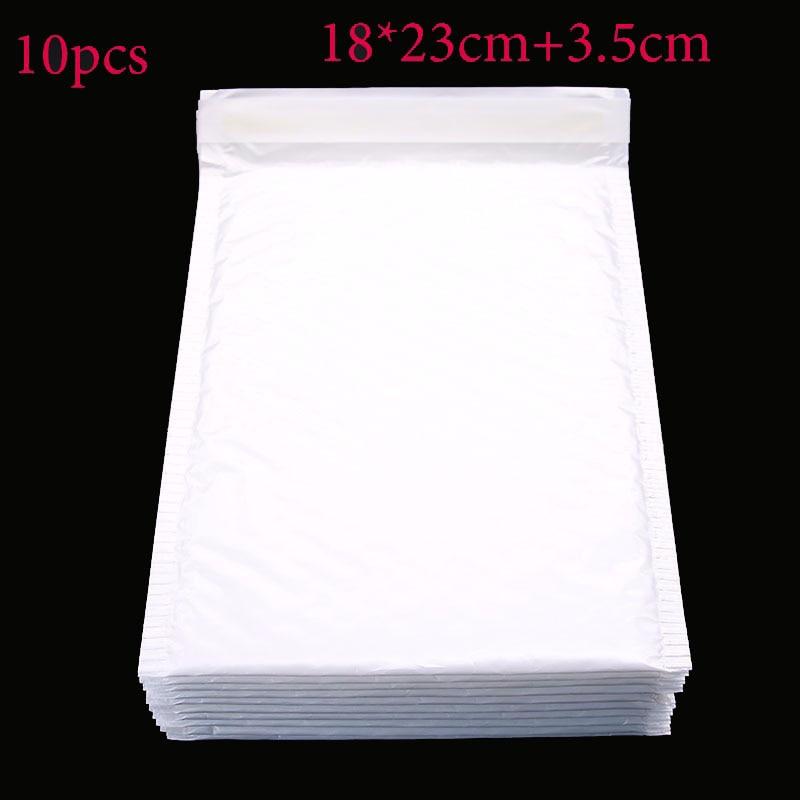 Office Stationery Paper (18 * 23cm + 3.5cm) 10 Pieces / White Envelope Paper Bubble Bag Foam Collision Postage Delivery Bag