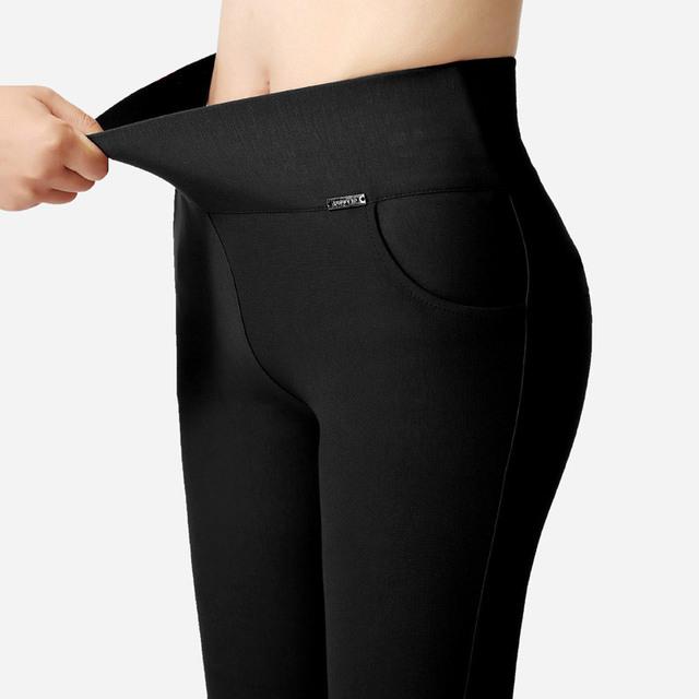 5 Colores de la Alta Cintura Leggings Mujeres Estirada Bodycon Leggings Plus Tamaño 3XL NJR02