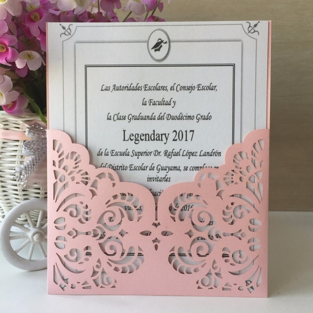 50pcs/lot Pink Beige postcards Greeting Card Party Greeting cards