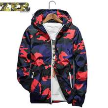 Male Jacket Spring Autumn Running Mens Sport Clothing Camouflage Hooded Jackets Waterproof Brand Men's Down Coat For Men Clothes(China)