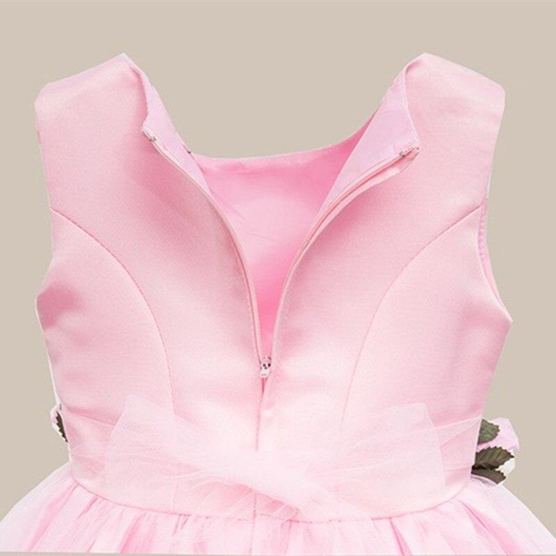 Fëmijët vestido infantil Vajzat Petalet e Luleve Fëmijët Nusja - Veshje për fëmijë - Foto 4