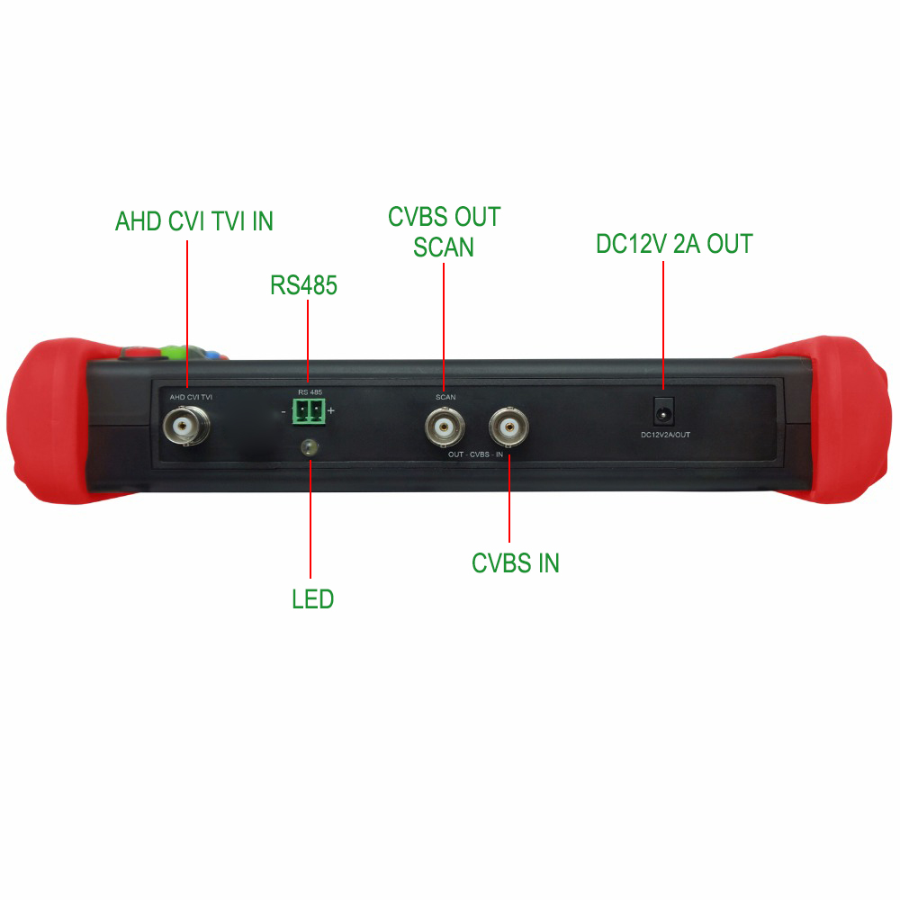 New 7 inch 5MP AHD IP Camera tester TVI CVI AHD IP CCTV tester Support 8MP TVI CVI 5MP AHD test wifi POE Out security camera