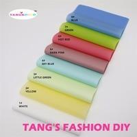 8pcs 20x23cm Candy Color Matt Color Translucent PVC Translucent PVC Translucent Fabric