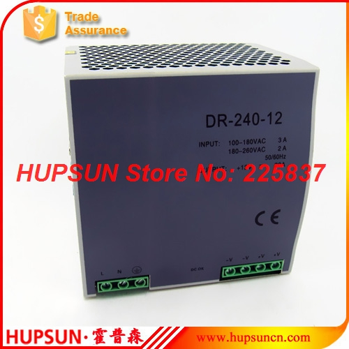 ФОТО DR-240 fonte 240w 220vAC to DC 12v 15a 24v 10a 48v 5a DIN Rail industrial power supply source driver transformer free shipping