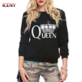 Harajuku Sweatshirt Hoodies Women Queen Crown Printed Tracksuits Long Autumn Winter Tracksuit Hoodie Tees Women Tops
