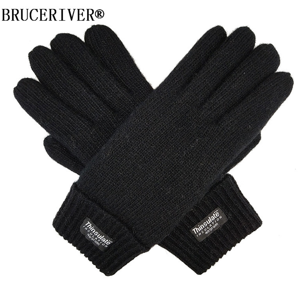 Bruceriver Ladies Wool Knit Gloves With Thinsulate Lining
