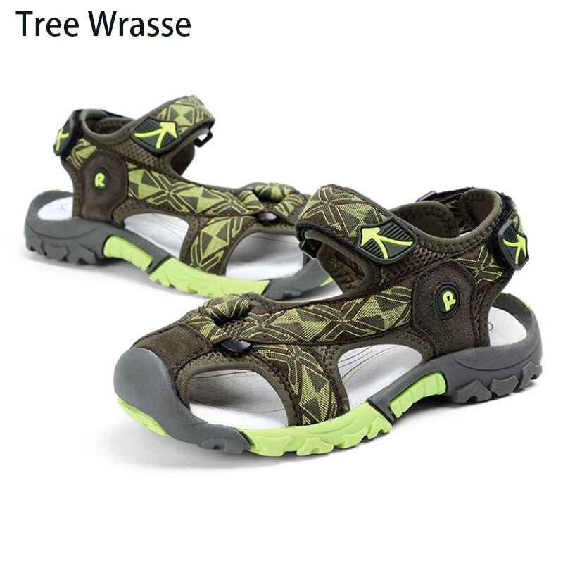 Tree Wrasse Boy Kids Beach Sandals shoes for boy Summer New Baotou Children Sandals Boy Non-slip Wear Slip Deodorant Sandals