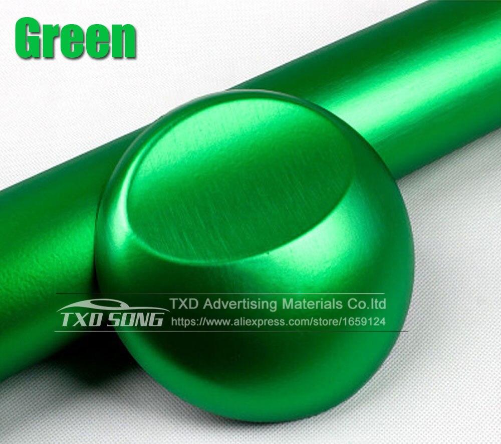 Хорошее качество, хромированная металлическая матовая алюминиевая виниловая металлическая виниловая пленка для отделки автомобиля, наклейка для стайлинга автомобиля, украшение из фольги - Название цвета: green