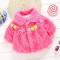 Winter Autumn Flower Wool Baby Outerwear Clothes Girls Jacket Baby Coat