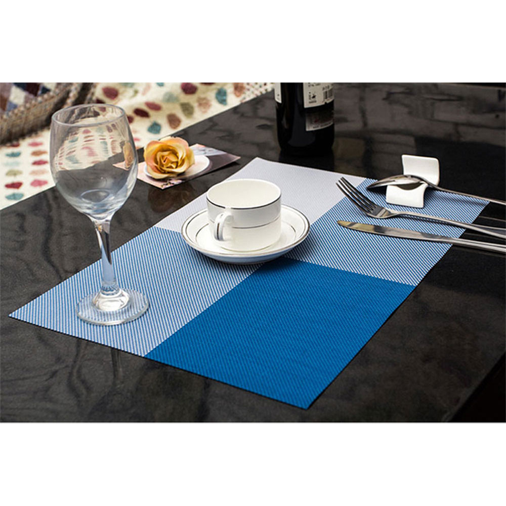 6pcs Kitchen PVC Placemats Europe Dining Pads Western Table Mats ...