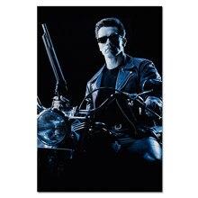 Терминатор 2 постер фильма T-800 Шварценеггер шелковое Искусство Печать на холсте домашний декор для стен в винтажном стиле ткань 40x60 см, 50x75 см...