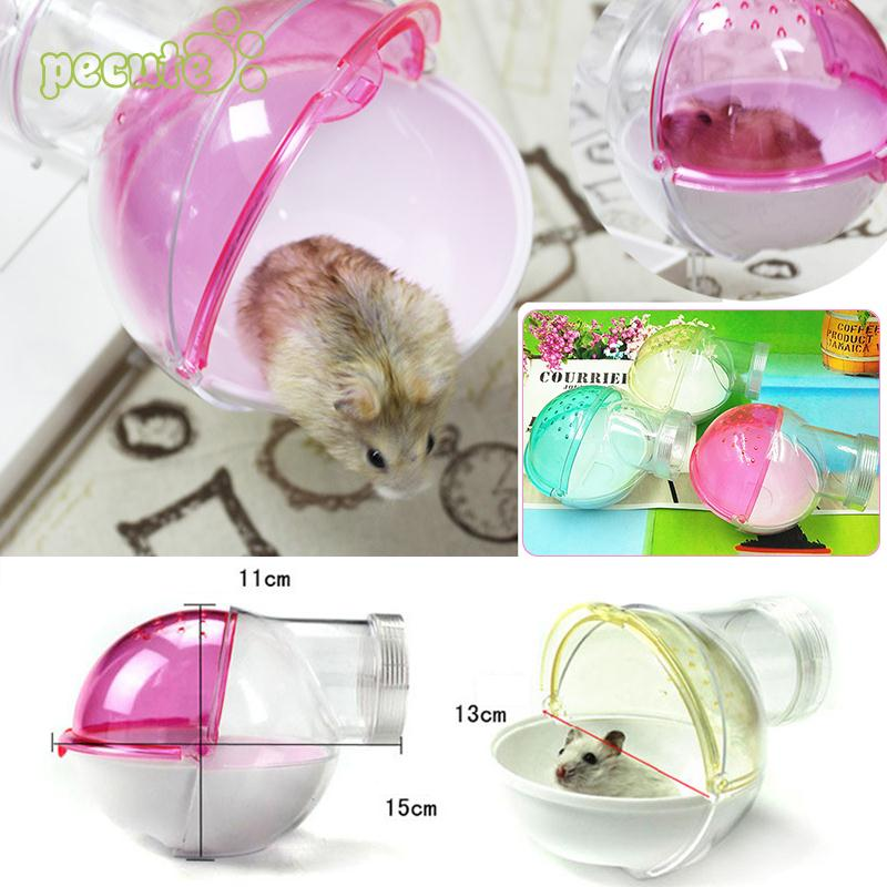 Clean Cute Round Type Villa Acrylic Bathroom Pet Bowl Bath Room Sauna Room Wash Hamster Bath Sandbox Home