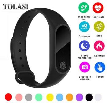 2018 M2 Smart Bracciale fitness Frequenza Cardiaca Wristband di Sport del Monitor Contapassi Intelligente Della Vigilanza Tracker Per IOS Android PK miband