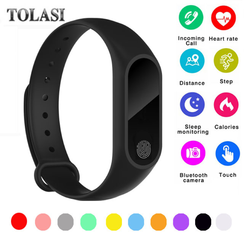 цена на 2018 M2 Smart fitness Bracelet Heart Rate Wristband Sleep Monitor Sport Pedometer Smart Watch Tracker For IOS Android PK miband