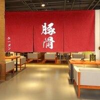 New Red /Blue Japanese Ramen Hang Shade Japanese RAMEN Shop Half Hang Curtain IZAKAYA Banner Japanese Decoration Curtain