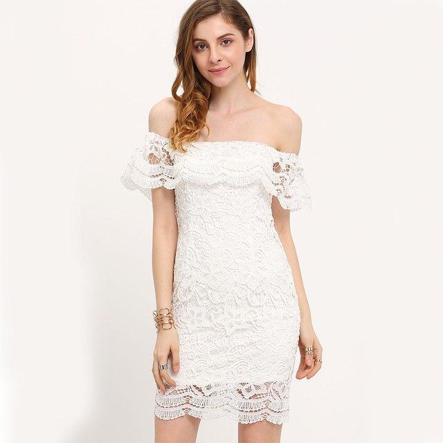 Witte jurk strapless