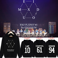 Exobiology around three cruise concert oh se-hoon lay chan yeol same hooded fleece who fall and winter clothing