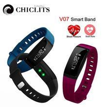 V07 Смарт Группа Браслет сердечного ритма Приборы для измерения артериального давления pedomet браслет Фитнес SMS оповещения для IOS телефона Android PK mi Группа 2 fitbits