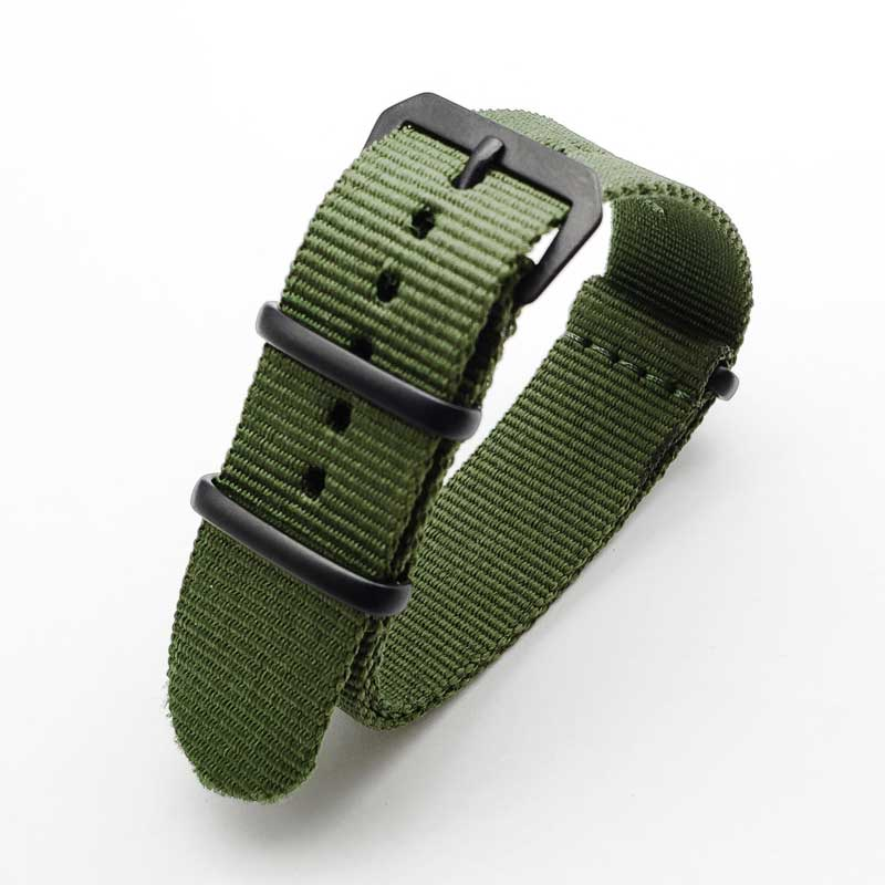18 20 22 24 mm Brand Army Sports nato fabric Nylon watchband accessories Bands Buckle belt For 007 James bond Watch Strap black все цены