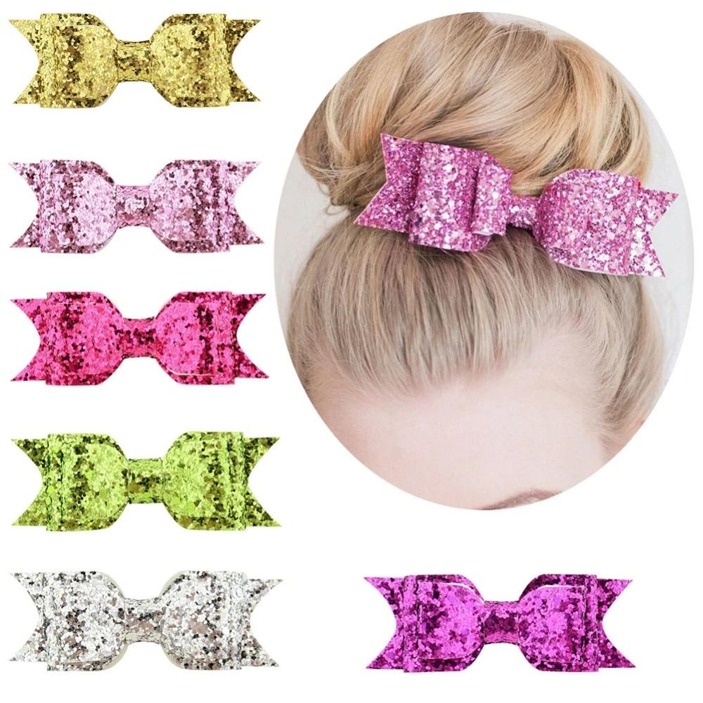 Filles De Petites Pinces à Cheveux Poignées Papillon /& Fleur Rose ou Bleu Accessoires 2pc Set