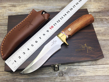 Free Shipping Shootey M2 59HRC High Hardness 7Cr17Mov Blade Fixed Knives Survival Knife Hunting Knife handmade gift knife