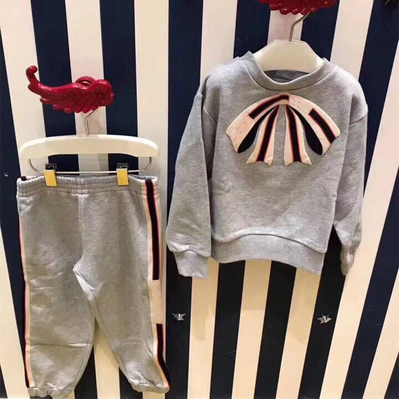 Europe and AmericaKids Clothes Boy's Sports Set Kids Clothing Sets Girls Sport Suit School Clothes Cotton T-shirt & Pants Tracks girls clothing sets 2018 winter girls clothes set t shirt pants 2 pcs kids clothes girl sport suit children clothes 6m 24m