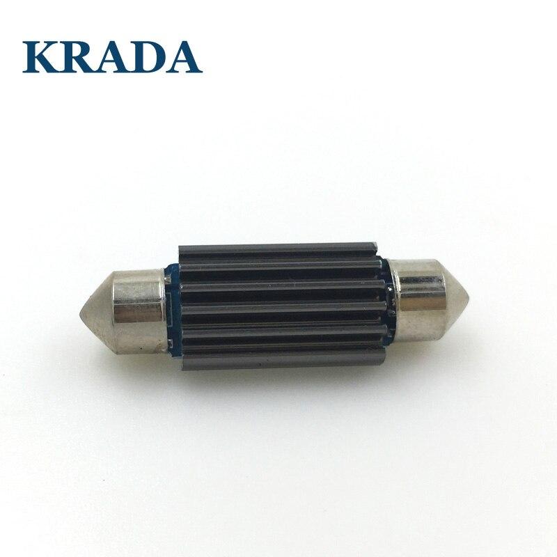 KRADA 4x Festoon C5W car white ice blue LED canbus Bulbs 28MM 31MM 36MM 39MM 41MM interior reading dome light License plate lamp