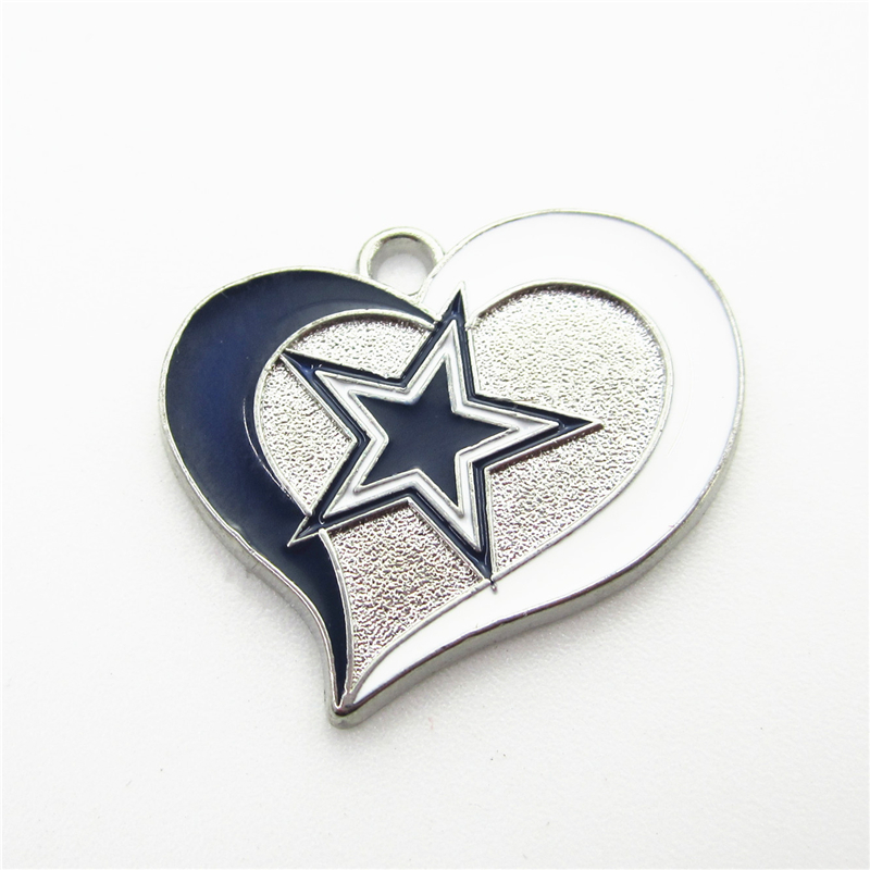 Wholesale price 100pcs football sports dallas cowboys charms dangle 100pcs football sports dallas cowboys charms dangle charms diy bracelet jewelry accessory pendants charm in charms from jewelry accessories on aloadofball