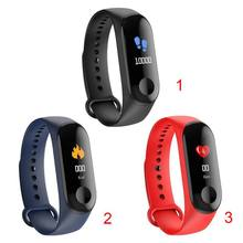 M3C Smart Wristband Bracelet Band Heart Rate Blood Pressure Monitor Smart Bracelet Touch Screen Pulse Step Time