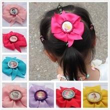 2pcs/lot fashion girl hair ribbon bow flower accessories headwear yiwu hair barrettes accessories kids boutique hair clips pins