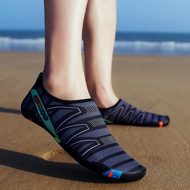 352630669a698 2019 caliente para hombres y mujeres zapatillas de deporte pesca playa  verano transpirable calzado Yoga Aqua