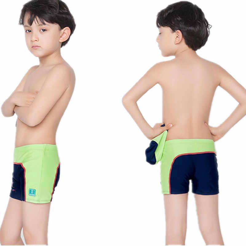 6d0487d2f0ebf ... Children's swimming trunks with swimming cap boys swimwear kids 6T-14T swimsuit  boy bathing suits ...