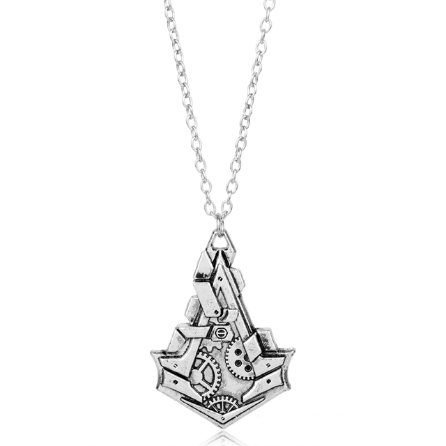 Mqchun Hot Game Jewelry Vintage Assassins Creed Metal Charm Necklace
